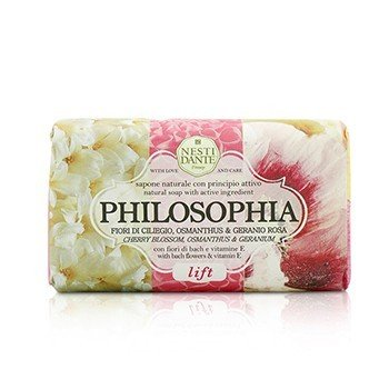 Nesti Dante Philosophia Natural Soap - Lift - Cherry Blossom, Osmanthus & Geranium With Bach Flowers & Vitamin E