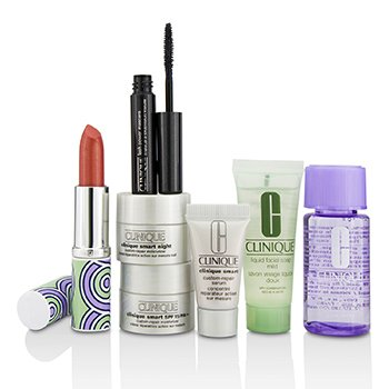 Clinique Jonathan Adler Clinique Bonus Set: Remover + Facial Soap + Repair Serum + Moisturizer SPF15 + Night Moisturizer + Mascara + Lip