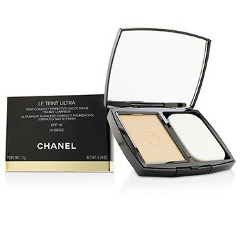Chanel Le Teint Ultra Ultrawear Flawless Compact Foundation Luminous Matte Finish SPF15 - # 30 Beige
