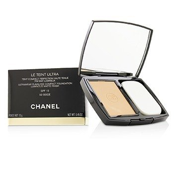 Chanel Le Teint Ultra Ultrawear Flawless Compact Foundation Luminous Matte Finish SPF15 - # 50 Beige