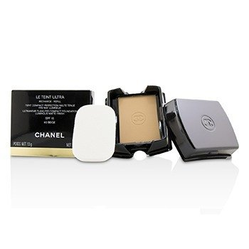 Chanel Le Teint Ultra Ultrawear Flawless Compact Foundation Luminous Matte Finish SPF15 Refill - # 60 Beige