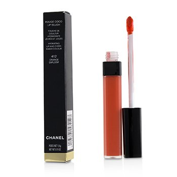 Chanel Rouge Coco Lip Blush Hydrating Lip And Cheek Colour - # 412 Orange Explosif
