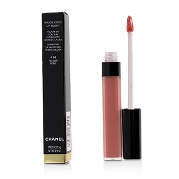 Chanel Rouge Coco Lip Blush Hydrating Lip And Cheek Colour - # 414 Tender Rose
