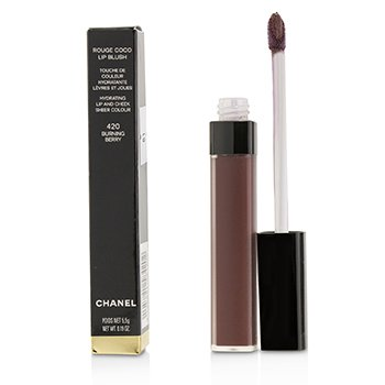 Chanel Rouge Coco Lip Blush Hydrating Lip And Cheek Colour - # 420 Burning Berry