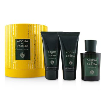 Acqua Di Parma Colonia Club Coffret: Eau De Cologne Spray 100ml + Hair And Shower Gel 75ml + After Shave Balm 75ml