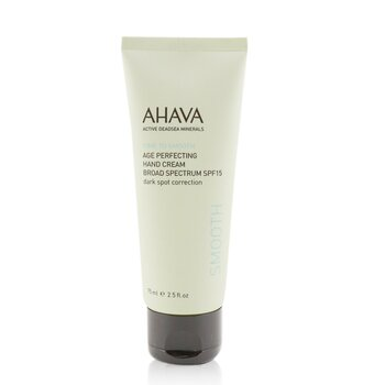 Ahava Ochranný krém na ruce Time To Smooth Age Perfecting Hand Cream Broad Spectrum SPF15