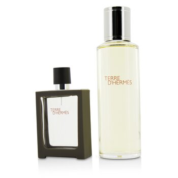 Hermes Terre DHermes Eau De Toilette Refillable Spray 30ml + Refill 125ml