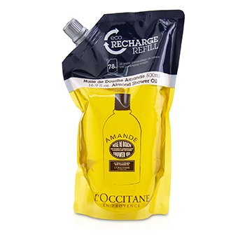 LOccitane Almond Cleansing & Softening Shower Oil (Eco-Refill)