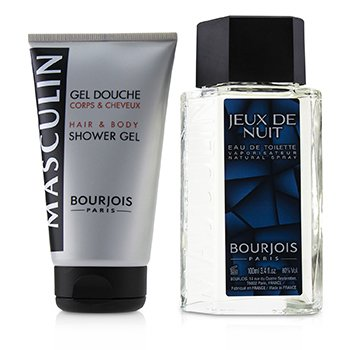 Bourjois Masculin Coffret: Jeux De Nuit Eau De Toilette Spray 100ml + Hair & Body Shower Gel 150ml