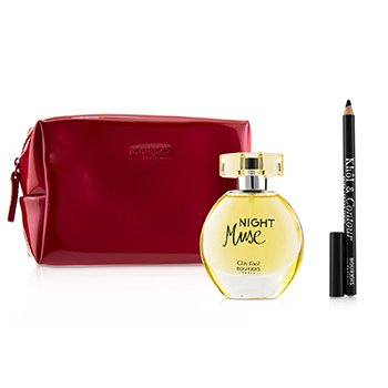 Bourjois Night Muse Coffret: Eau De Parfum Spray 50ml + Khol & Contour Eyeliner Pencil - #001 Noir-Issime 1.2g + Glossy Bag