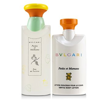 Bvlgari Petits Et Mamans Coffret: Eau De Toilette Spray 100ml + Gentle Body Lotion 75ml + Baby Changing Blanket