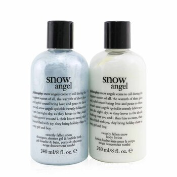 Philosophy Sada Snow Angel Duo: sprchový gel 240ml + tělová emulze 240ml