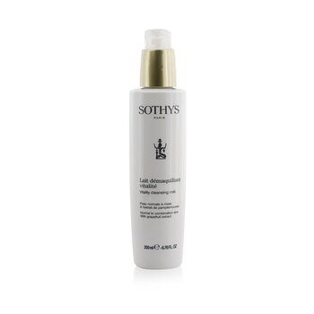 Sothys Vitality Cleansing Milk - For Normal to Combination Skin , With Grapefruit Extract