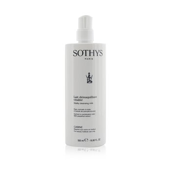 Sothys Vitality Cleansing Milk - For Normal to Combination Skin , With Grapefruit Extract (Salon Size)