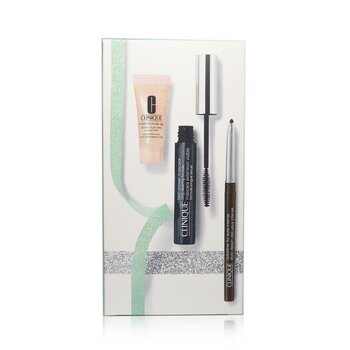 Clinique Lash Power Mascara Set (1x Mascara, 1x Quickliner For Eye Intense,1x Moisture Surge Eye Hydro Filler Concentrate)