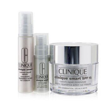 Clinique Skincare Specialists Clinique Smart Custom-Repair Set: Moisturizer SPF 15 50ml + Serum 10ml + Eye Treatment 5ml