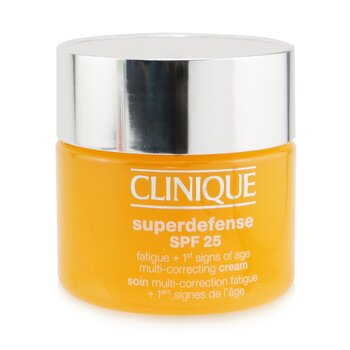 Clinique Superdefense SPF 25 Fatigue + 1st Signs Of Age Multi-Correcting Cream - Combination Oily to Oily