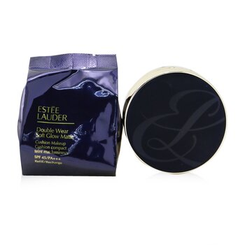 Estee Lauder Double Wear Soft Glow Matte Cushion Makeup SPF 45 With Extra Refill - # 1W1 Bone