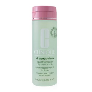 Clinique All About Clean Liquid Facial Soap Oily Skin Formula - Combination Oily to Oily Skin