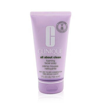 Clinique All About Clean Foaming Facial Soap - Very Dry to Dry Combination Skin