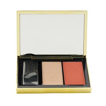 Estee Lauder Pure Color Envy Sculpting Blush + Highlighter Duo - # Coral Fever